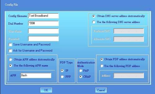 seting internet manual tsel