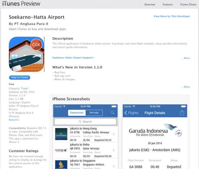 Soekarno-Hatta Airport iOS v1.1.0